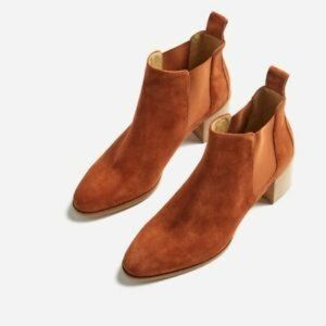 NEW Everlane The Heel Ankle Boot Brown Rust Suede